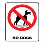 Prohibition safety sign - No Dogs 164